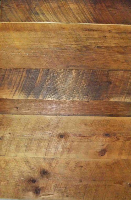 Effet trait de scies apparents, mur ou plancher