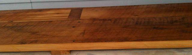Comptoir en plancher ancien de 1 po1/2