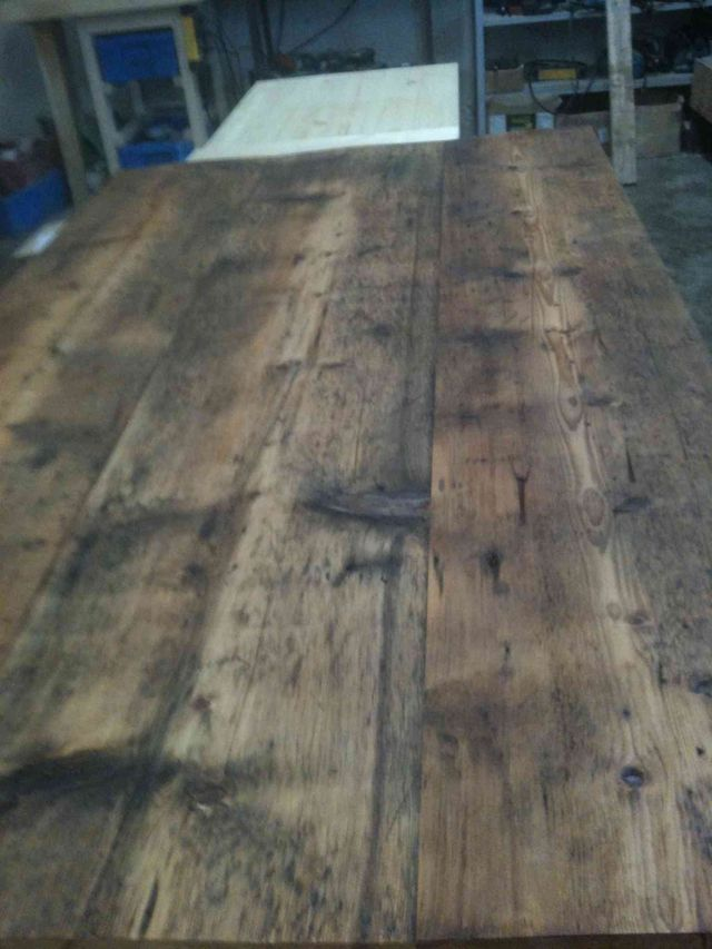 plateau de table , 3 planches huilées