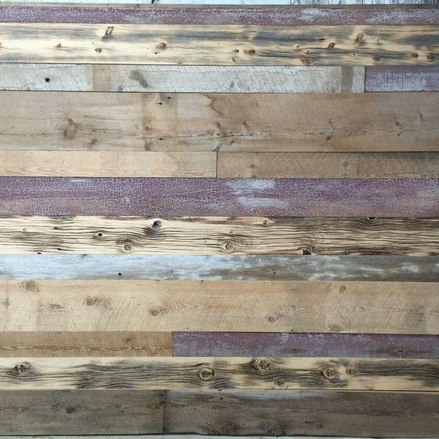 Montage bois ancien